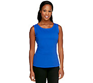 Status by Star Jones Ponte Knit Shell with waist detail - A252490
