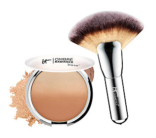 Product image of It Cosmetics CC Anti-Aging Ombre Radiance Bronzer w/ Luxe Mega Fan Brush