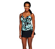 DreamShaper by Miraclesuit Floral Side Shirred Tankini Swimsuit - A253790