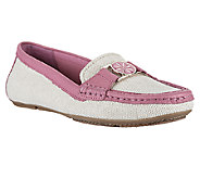 Isaac Mizrahi Live! Canvas Moccasins with Leather Trim - A254190