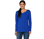Denim & Co. Essentials Sweetheart Neck Knit Top - A260590