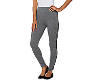 Whitney Port Pull-On Knit Leggings with Side Seam Detail - A267190