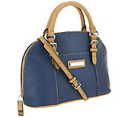 As Is Tignanello Pebble Leather Convertible Dome Satchel - A269590