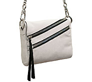 As Is orYANY Skyler Italian Leather Crossbody - A269790