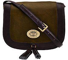 Tignanello Glazed Vintage Leather Saddle Crossbody Bag