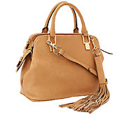 As Is G.I.L.I Italian Leather Triple Compartment Satchel - A274690