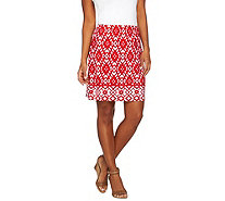 Susan Graver Choice of Solid or Print Liquid Knit Pull-On Skort - A274890