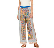 C. Wonder Engineered Paisley Foulard Print Woven Pull-On Pants - A275090