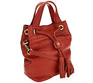 As Is orYANY Italian Grain Leather Crossbody - Jeanne - A275990