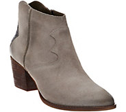 As Is Marc Fisher Suede Ankle Boots - Stefani - A277690