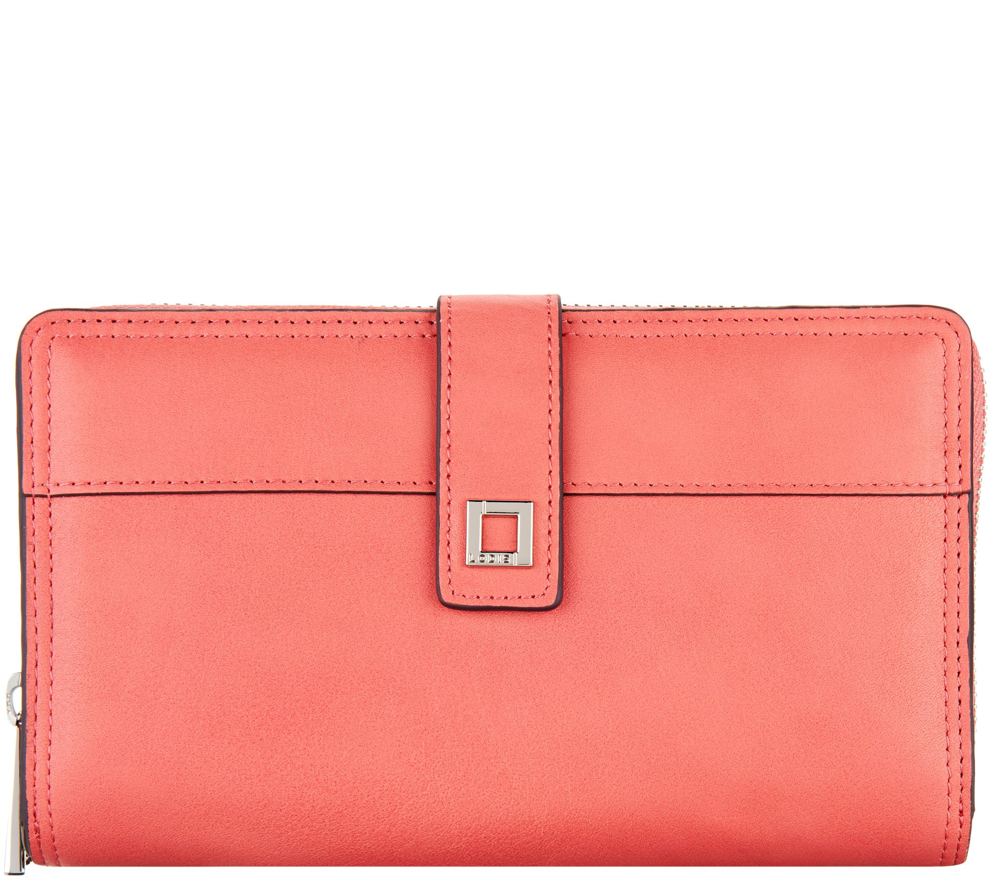LODIS Italian Leather Large RFID Checkbook Zip Wallet - A277890 — QVC.com