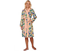 As Is Isaac Mizrahi! Live! Floral Print Jersey Robe - A286690