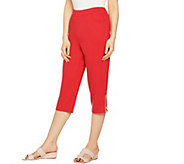 Quacker Factory Anchors Away French Terry Pull-On Capri Pants - A289690