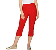 Susan Graver Sloan Stretch Pull-On Capri Pants - A290790