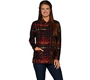 Susan Graver Weekend Printed Ponte Pullover Tunic - A297690
