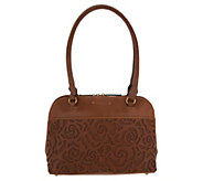 Tignanello Vintage Leather Floral Dome Shopper- Florence - A304490
