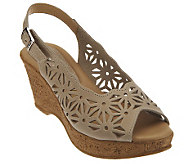 Spring Step Abigail Leather Slingback Sandals - A314090