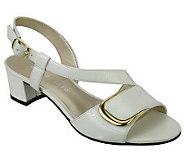 David Tate Trish Crinkle Patent Symetrical Sandals - A316390