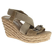 Azura by Spring Step Leather Platform Sandals -Cambodia - A323190