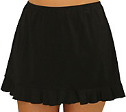 Fit 4 Ur Hips Solid Skirt with Flounce - A362990