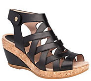 Dansko Open-Toe Wedge Leather Sandals - Cecily - A412390