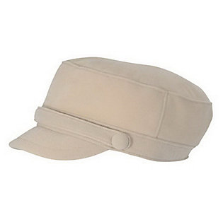 San Diego Hat Co. Women's Sueded Corduroy GreekFisherman Cap