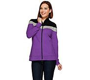 Denim & Co. Long Sleeve Zip Front Color-Block Jacket - A230291