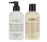 philosophy miracle worker & purity made simple cleanser duo, 8 oz. - A233591