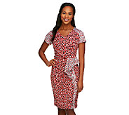 Status by Star Jones Printed Side Drape Dress - A252491