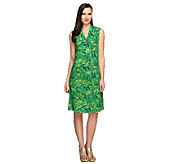 Liz Claiborne New York Petite Floral Print Knit Dress - A253191