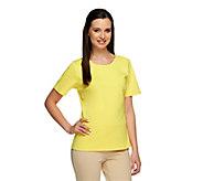 Joan Rivers Wardrobe Builders Ponte Knit Tee Shirt - A253691