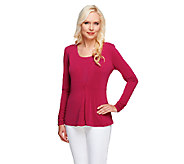 George Simonton Crystal Knit Tank and Peplum Cardigan Set - A255391