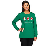 Quacker Factory Holiday Fun Embroidered Sweatshirt - A258391