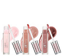 IT Cosmetics Vitality Lip Blush Hydrating Soft Stain Gloss Trio - A262391