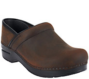 As Is Dansko Professional Leather Clogs in Neutrals - A264991