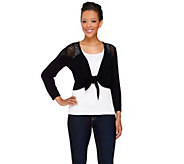 Styled by Joe Zee Bracelet Sleeve Shrug with Shoulder Detail - A265291