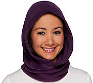 Cuddl Duds Fleecewear Stretch Convertible Neckwarmer Hood - A268991
