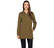 Denim & Co. Active Regular French Terry Tunic with Hood - A270191