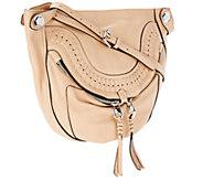 As Is orYANY Italian Leather Medium Crossbody Bag - Linda - A271891