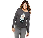 Bethany Mota Long Sleeve Crew Neck Silly Gnome Sweater - A273791