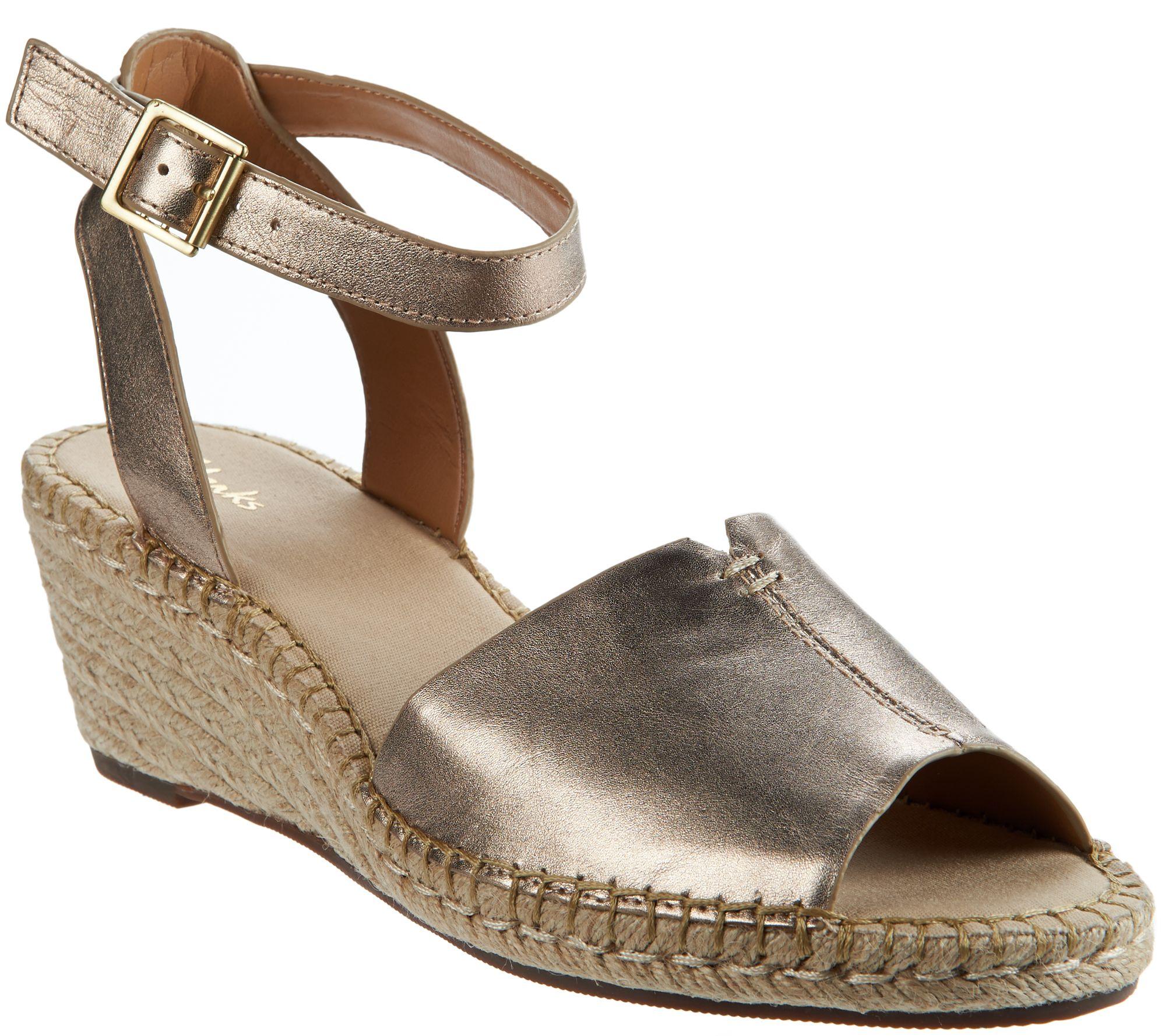 Clarks Artisan Leather Espadrille Wedge Sandals - Petrina ...