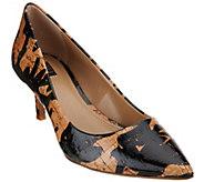 G.I.L.I. Cork Pointed Toe Mid-heel Pumps - Georgette - A277991