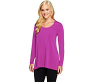 As Is George Simonton Milky Knit Top with Pleated Detail - A280591