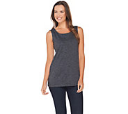 LOGO Lotus by Lori Goldstein Space Dye Straight Hem Knit Tank - A280791