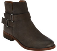 Franco Sarto Leather Ankle Boots w/ Buckle - Harwick