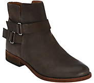 Franco Sarto Leather Ankle Boots w/ Buckle Detail - Harwick - A281291
