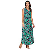 As Is Denim & Co. Sleeveless Floral Printed Maxi Dress - A286191