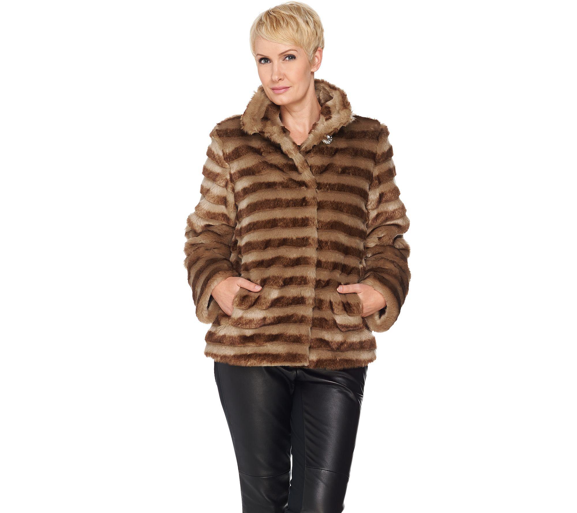 Dennis Basso Dennis Basso Platinum Collection Faux Fur Cropped Jacket Page 1