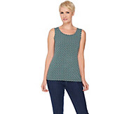 Susan Graver Printed Liquid Knit Scoop Neck Tank - A287591