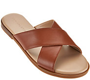 As Is H by Halston Leather Crossover Sandal - Rin - A288291